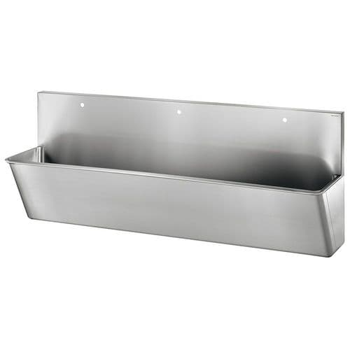 Delabie 187100 3 User 2100mm Stainless Steel Surgeons Scrub Trough - HBN00-10 Compliant - High-Back