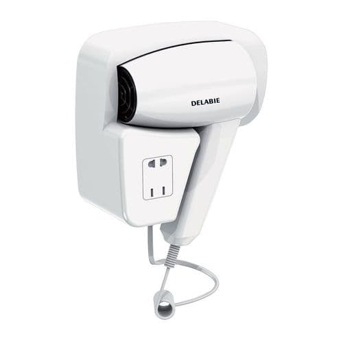 Delabie 6624 Wall-Mounted Hair Dryer with Shaver Socket