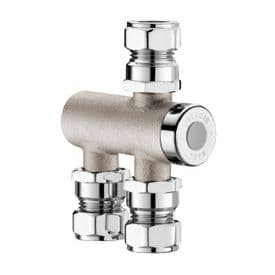 Delabie 732115 PREMIX NANO TMV3 Valve Nickel-Plated Thermostatic Mixing Valve