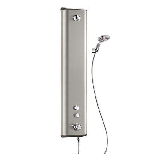 Delabie 792324 SECURITHERM Thermostatic Dual Control Push Time-Flow Shower Panel - Stainless Steel