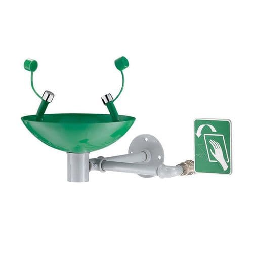 Delabie 9102 Eye Wash Station - Wall-Mounted, Hand-Operated