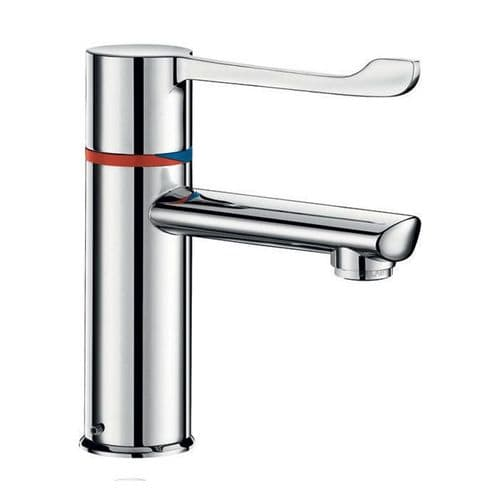 Delabie H9605610 SECURITHERM BIOCLIP Seq Thermostatic Deck-Mounted 146mm Lever Basin Mixer-Cop Tail