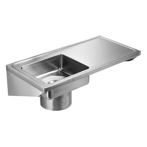 Franke G22000R Wall-Mounted Plaster Sink with Right-Hand Drainer