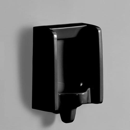 Back Inlet Healey & Lord Florida Black Urinal Bowl