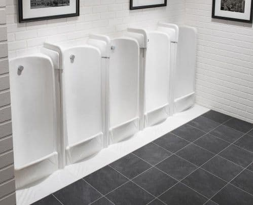 Back Inlet Niagara 2 to 5 Station Fused Run Floor Standing Slab Urinals