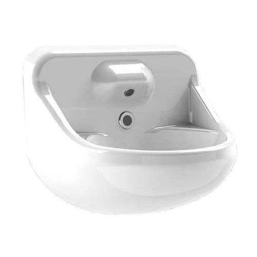 DVS Anti-Ligature High Security Basin with Single Spout Integral Backplate