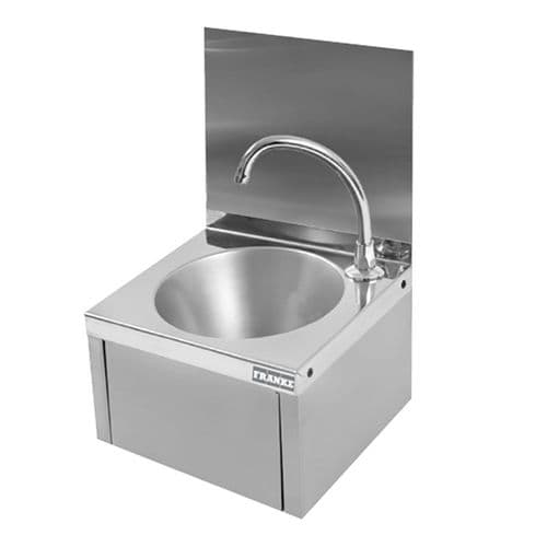 Franke ANIMA ANMX216 Wall-Mounted Knee-Operated Washbasin