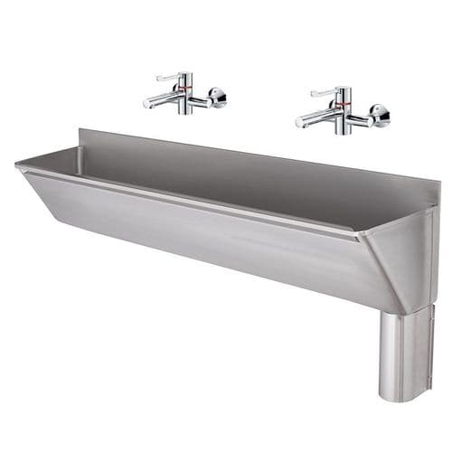 Franke G22030R 1600mm Stainless Steel Surgeons Scrub-Up Trough with Right-Hand Outlet