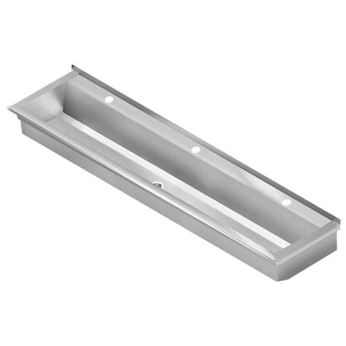 Franke PLANOX PL18T-UK 1800mm Stainless Steel Wash Trough (3 Tap Holes)
