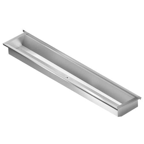 Franke PLANOX PL24-UK 2400mm Stainless Steel Wash Trough (No Tap Holes)