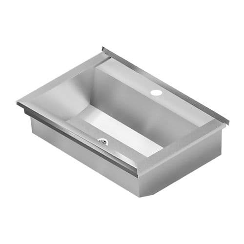 Franke PLANOX PL6T-UK 600mm Stainless Steel Wash Trough (1 Tap Hole)