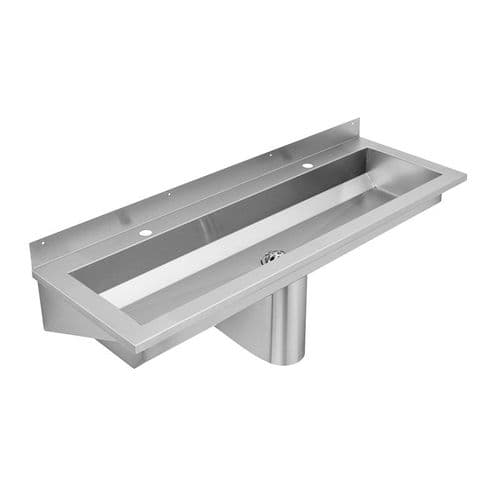 Franke Saturn SANX120 1200mm Stainless Steel Wash Trough (2 Tap Holes)