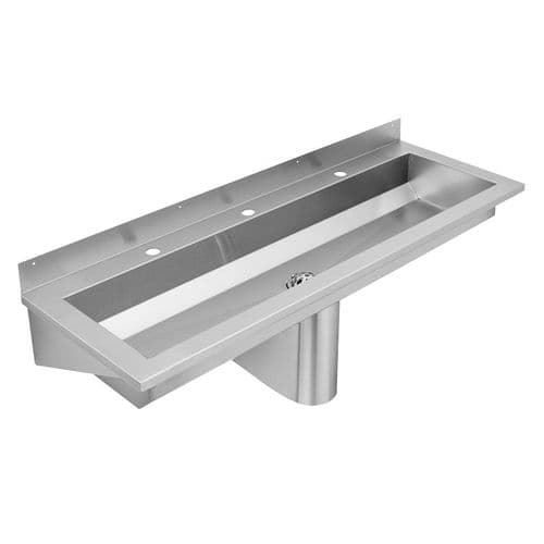 Franke Saturn SANX180 1800mm Stainless Steel Wash Trough (3 Tap Holes)