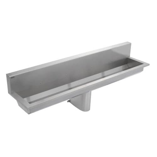 Franke Saturn SANX180SB 1800mm Wall-Mounted Stainless Steel Wash Trough with Splashback