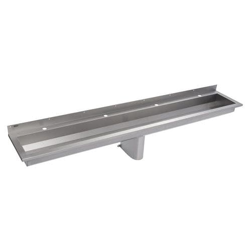Franke Saturn SANX240 2400mm Stainless Steel Wash Trough (4 Tap Holes)