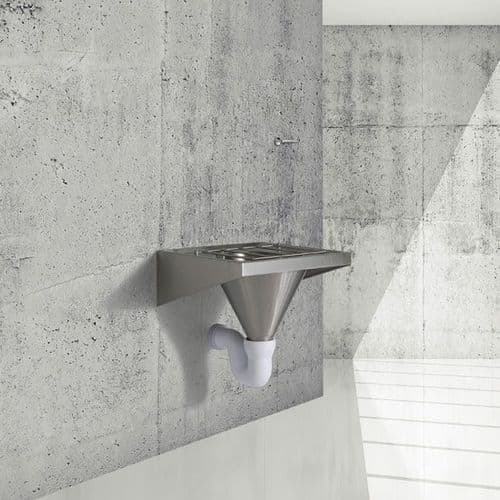 H&L Wall-Mounted Sluice Sink / Slop Hopper with Concealed Cistern