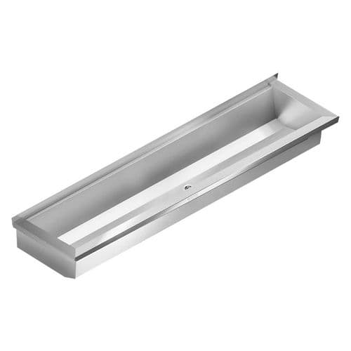 Stainless Steel Wash Troughs for Wall Mounted Taps