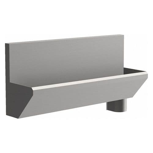2 User 1600mm H&L Surgeons Scrub Trough Sink - HBN 00-10 & HTM 64 - High-Back, Right Hand Waste