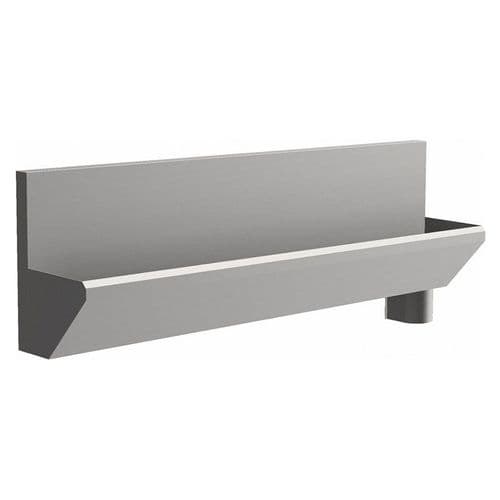3 User 2400mm H&L Surgeons Scrub Trough Sink - HBN 00-10 & HTM 64 - High-Back, Right Hand Waste
