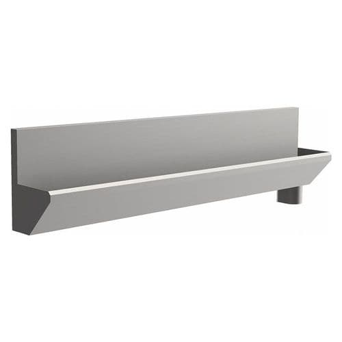 4 User 3200mm H&L Surgeons Scrub Trough Sink - HBN 00-10 & HTM 64 - High-Back, Right Hand Waste