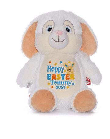 Personalised Hoppy Easter Bunny Cubby (Blue)