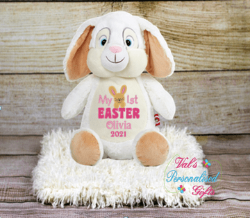 Personalised My First Easter Bunny Cubby (Pink)