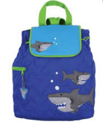 Personalised Shark quilted backpack bag