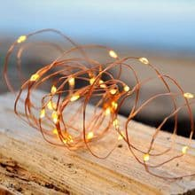 30 Warm White LED Micro Battery Fairy Lights