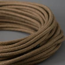 SOFT PEAT LINEN Fabric Lighting Cable