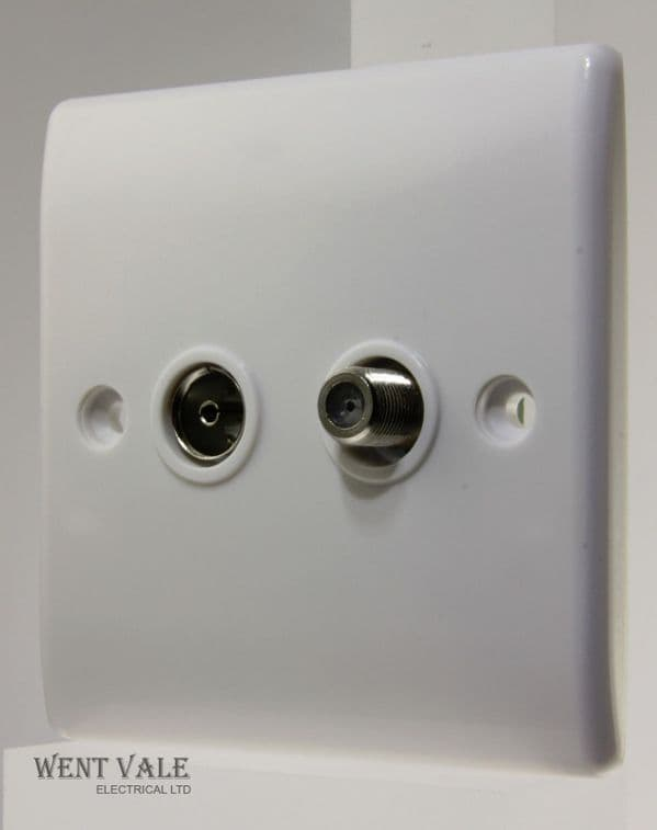 BG Nexus - 865-01 -  2g F-Type Satillite And Non-isolated Co-Axial Socket Outlet