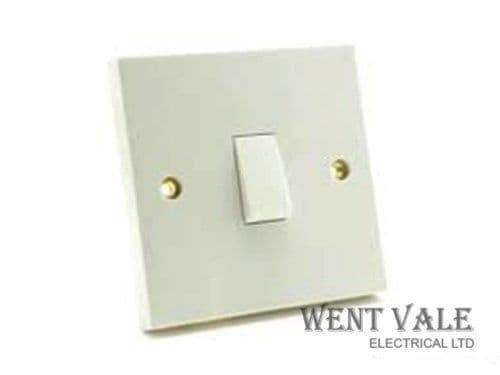 British General 930-01 - White Moulded - 1 Gang 20a Double Pole Switch New