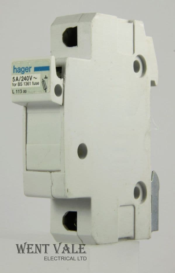 Hager L113 00 - 5 x 22mm BS 1361 - 5a Cartridge Fuse Holder Used