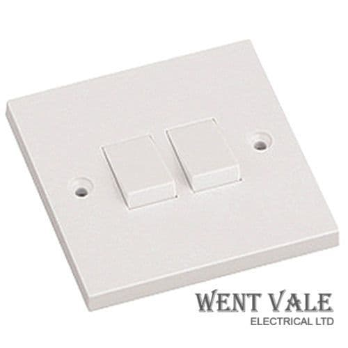 Newlec NL8310/22 - 6a Two Gang, Two Way Switch New