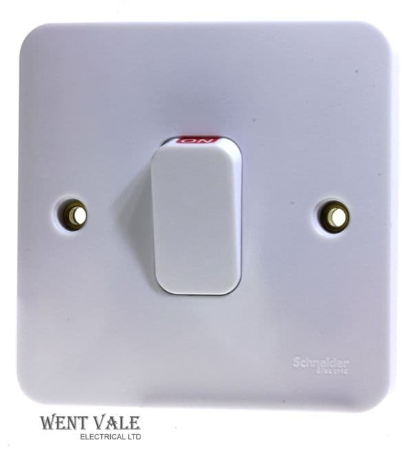 Schneider Lisse Moulded Range - GGBL4011 - 50a Double Pole Switch With Neon