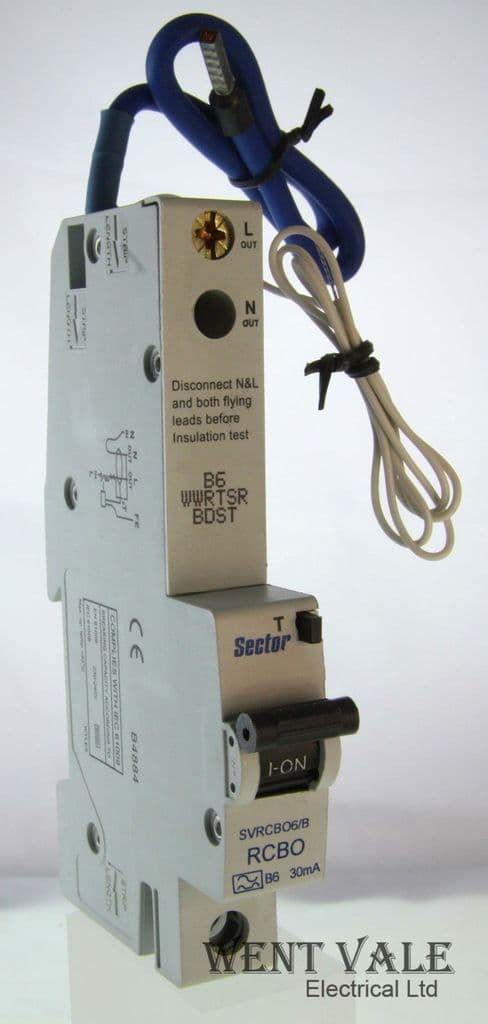 Sector SVRCBO6/B - 6a 30mA Type B Single Pole RCBO Unused In Box