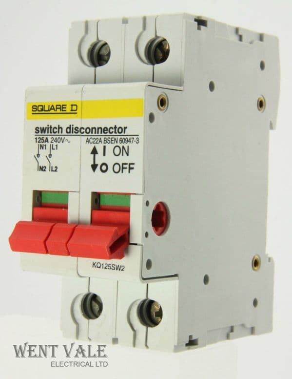 Square D - Loadcentre - KQ125SW2 - 100a AC22A Switch Disconnector Used