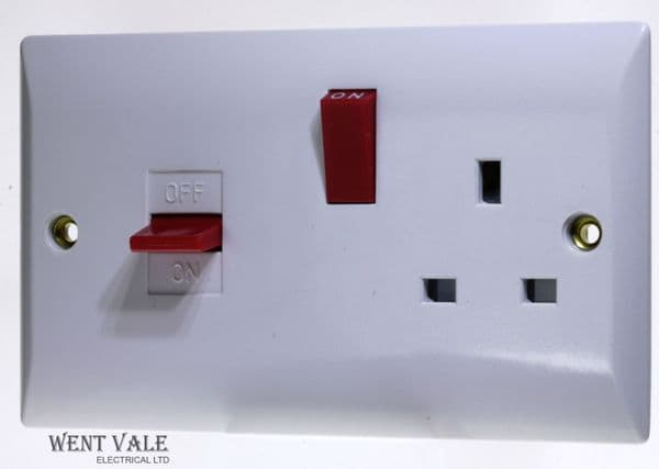 Super Switch - Silk Range - SW25 - 45a Cooker Control + 13a Switched Socket