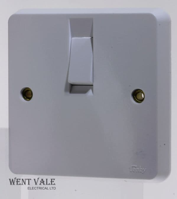 Tenby Glacier - 7048 - 20a Double Pole Switch With Flex Outlet Unused