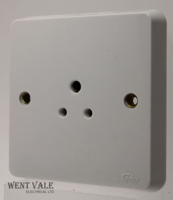 Tenby Glacier - 7050 - 2a Unswitched Single Unshuttered Socket Outlet Un-used